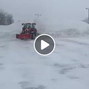 On prend de l'avance sur le relevage de neige